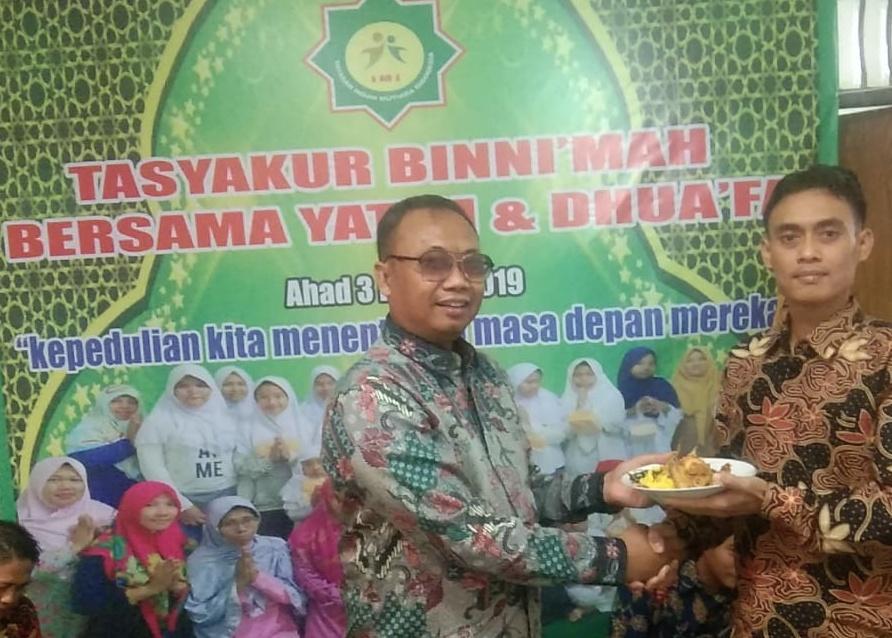 Santunan akbar dalam rangka Tasyakur Binni' mah Yayasan Insan Mutiara Indonesia                 Ahad, 3 Maret 2019